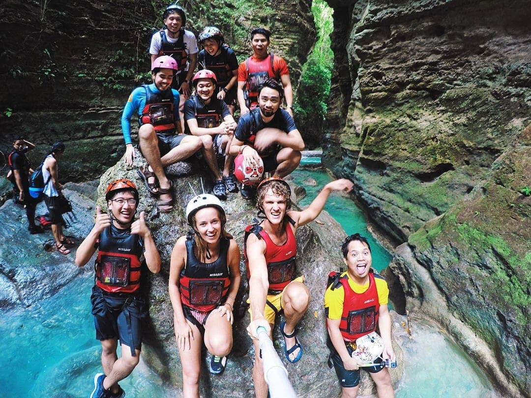philippines canyoning cebu kawasanfalls friends