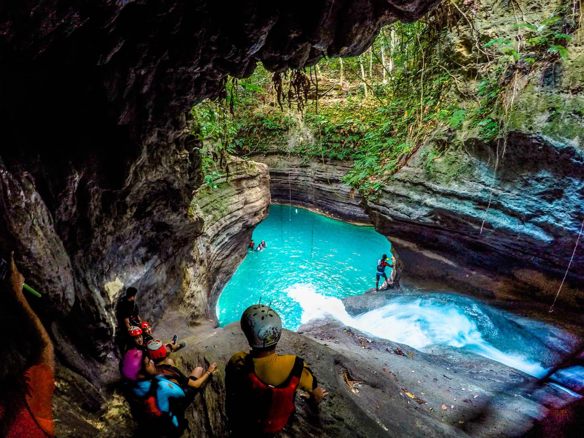 gatorade lake badian cebu philippines canyoneering