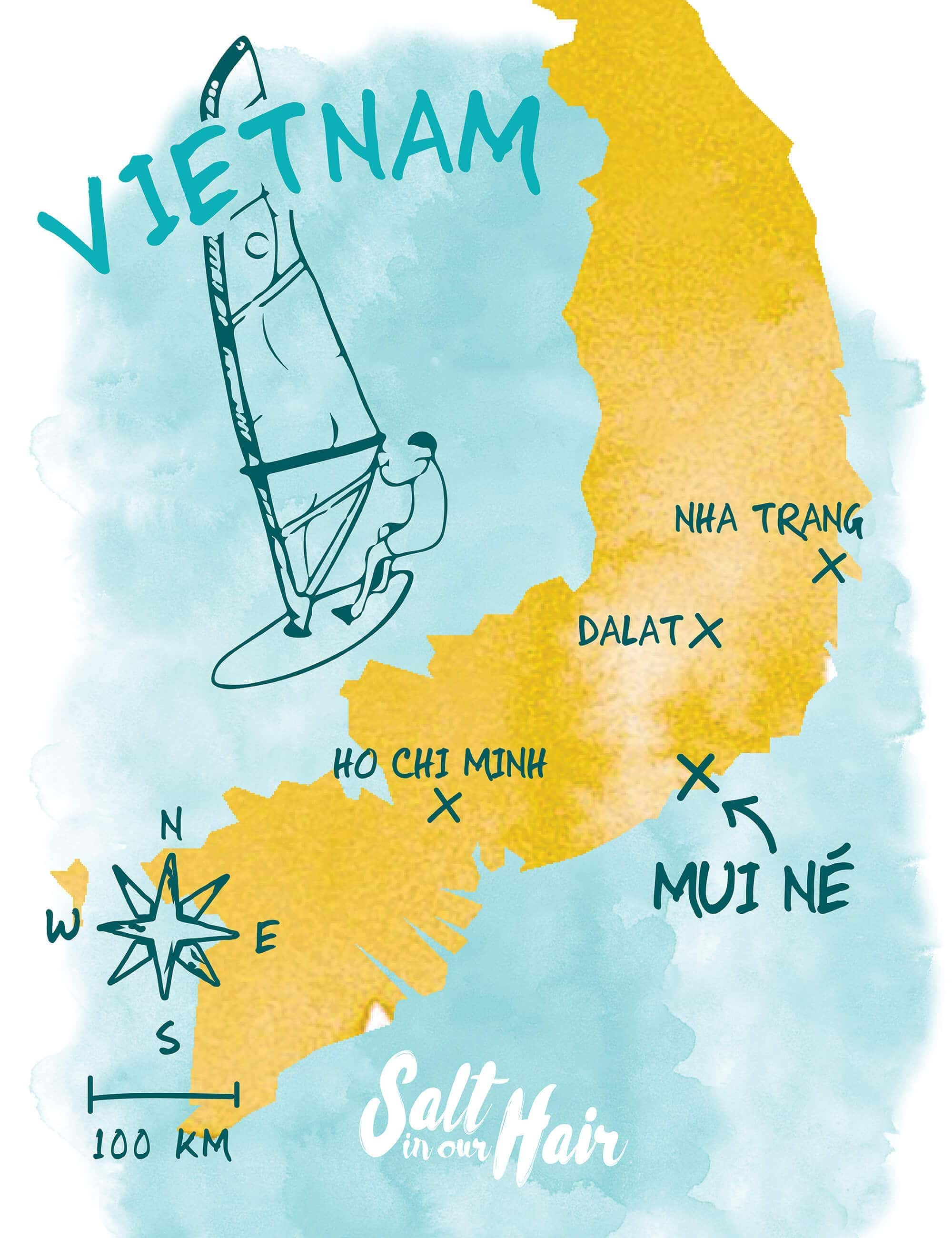 Mui Ne map Vietnam