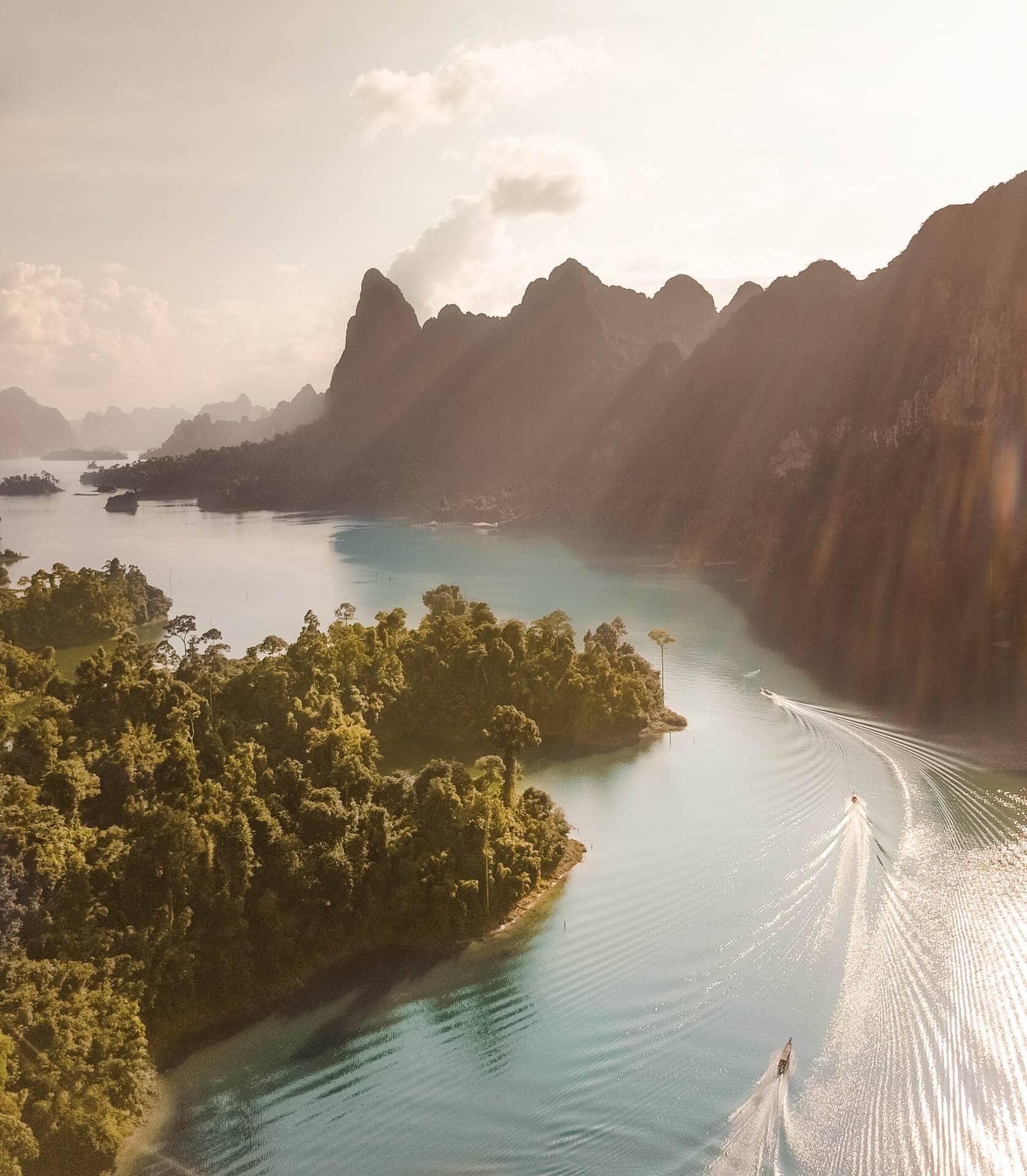 Khao Sok Lake tour drone