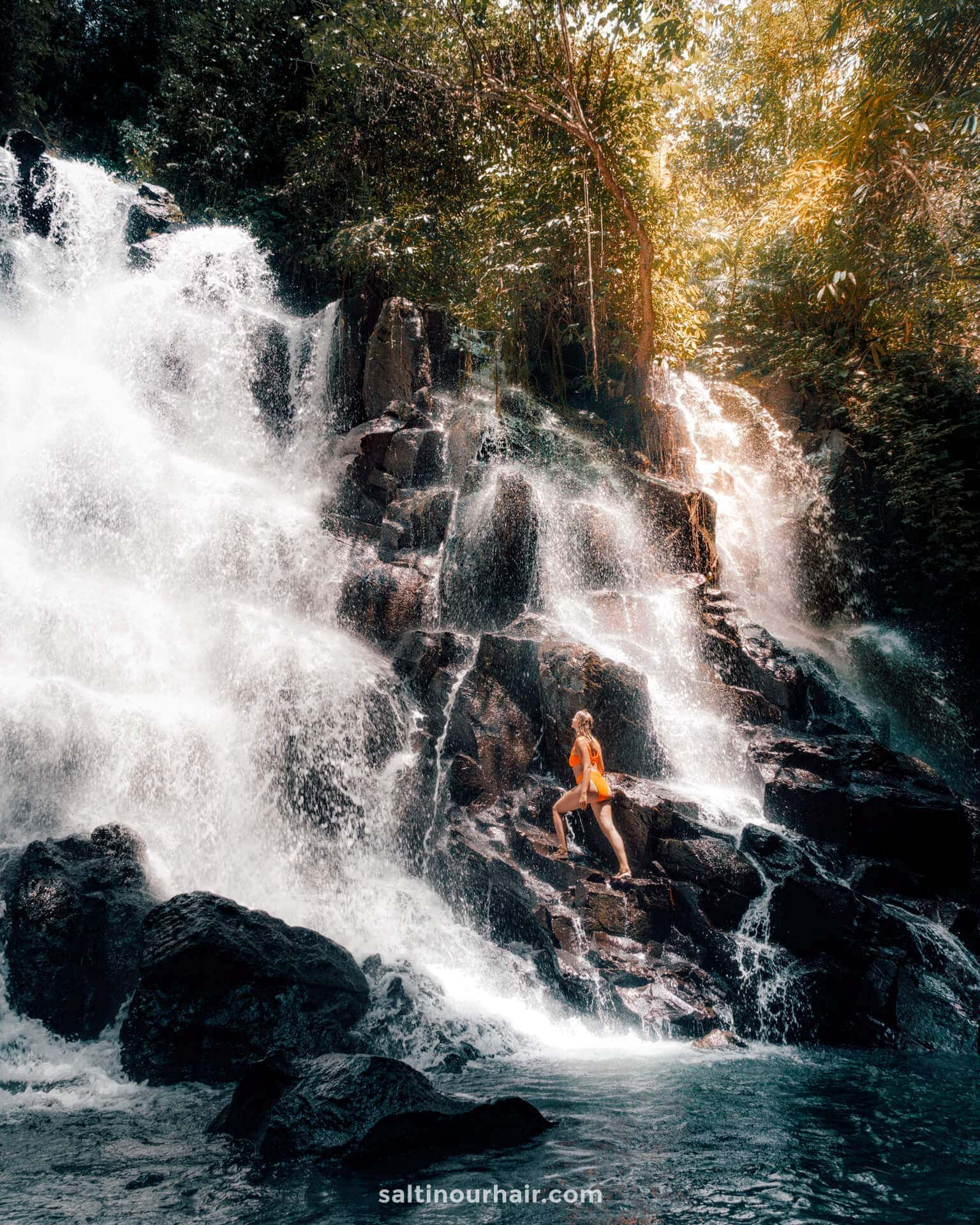 things to do ubud Kanto Lampo waterfall