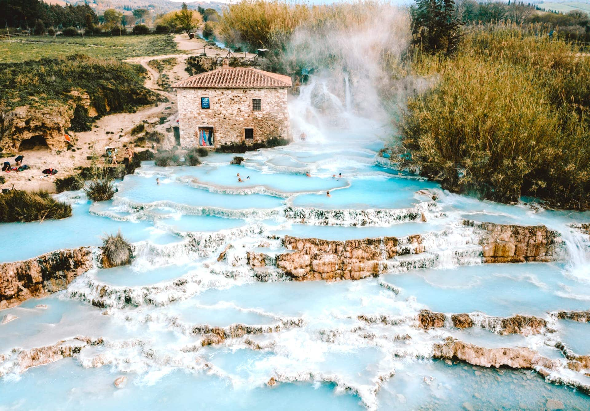 Hot Springs In Tuscany Saturnia Italy S Best Kept Secret