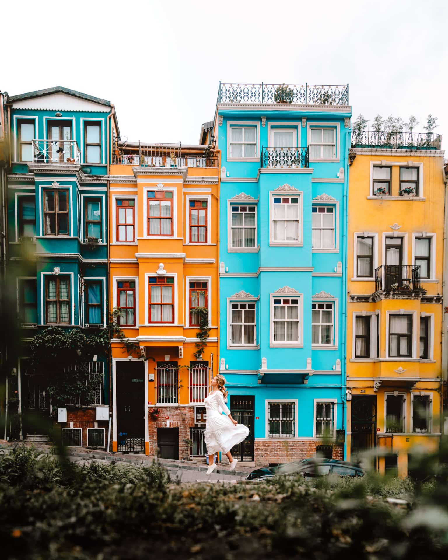 colorful houses istanbul