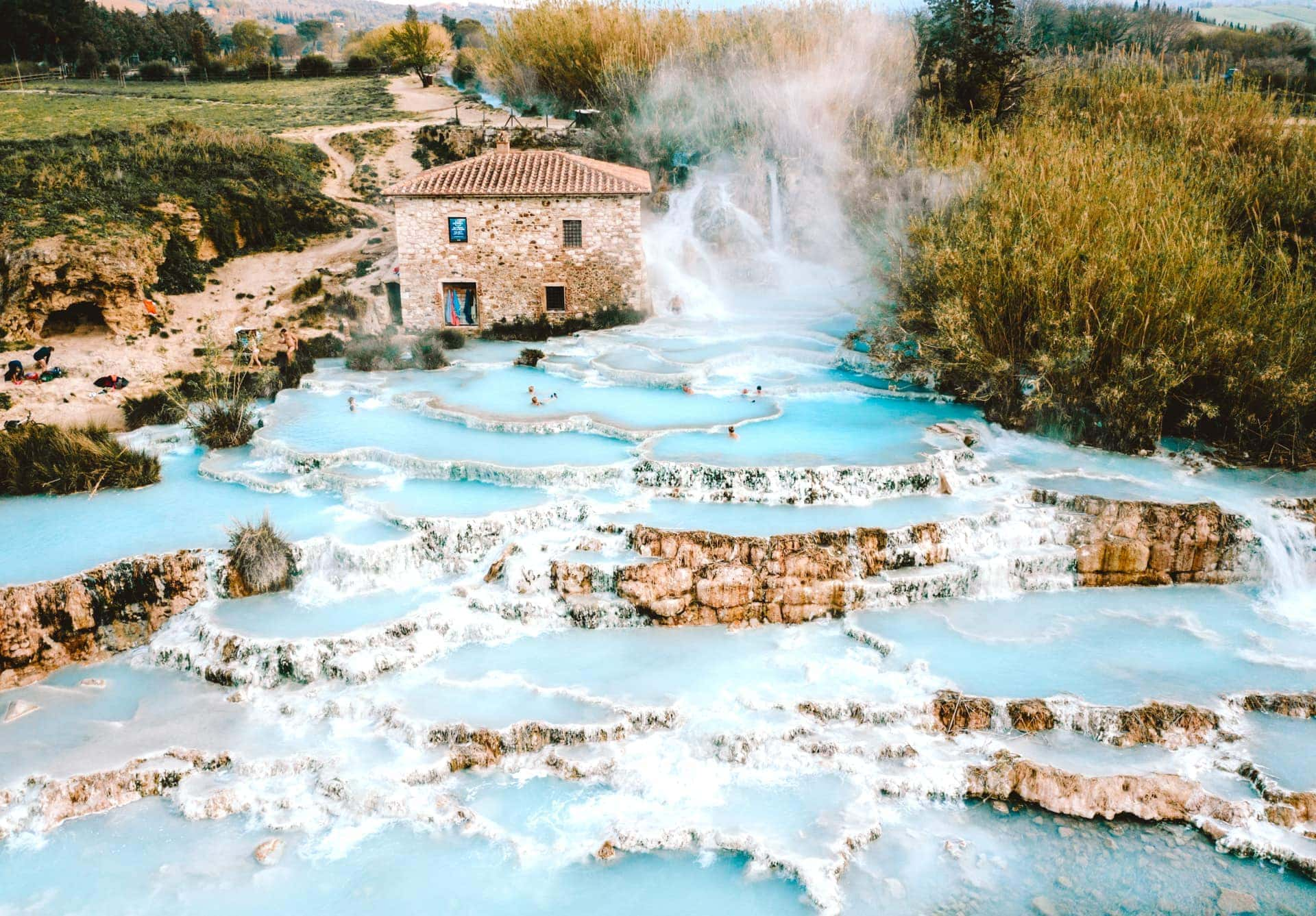 italy guide Hot Springs Tuscany Saturnia