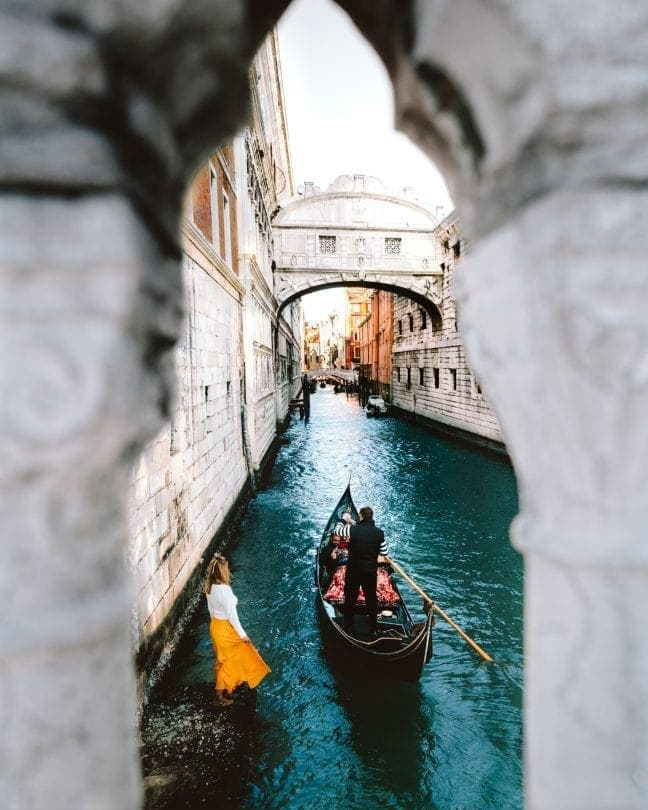 travel italy venice bridge of sighs