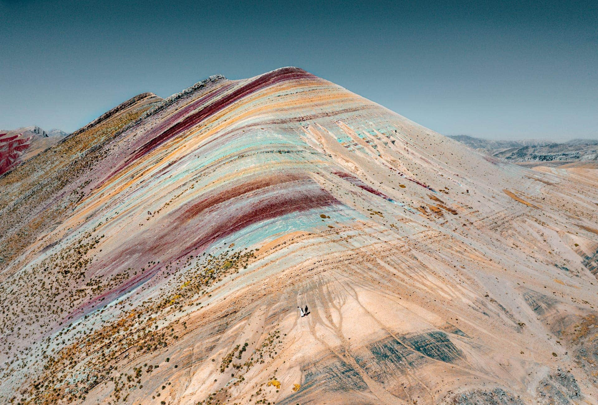 palccoyo rainbow mountain drone