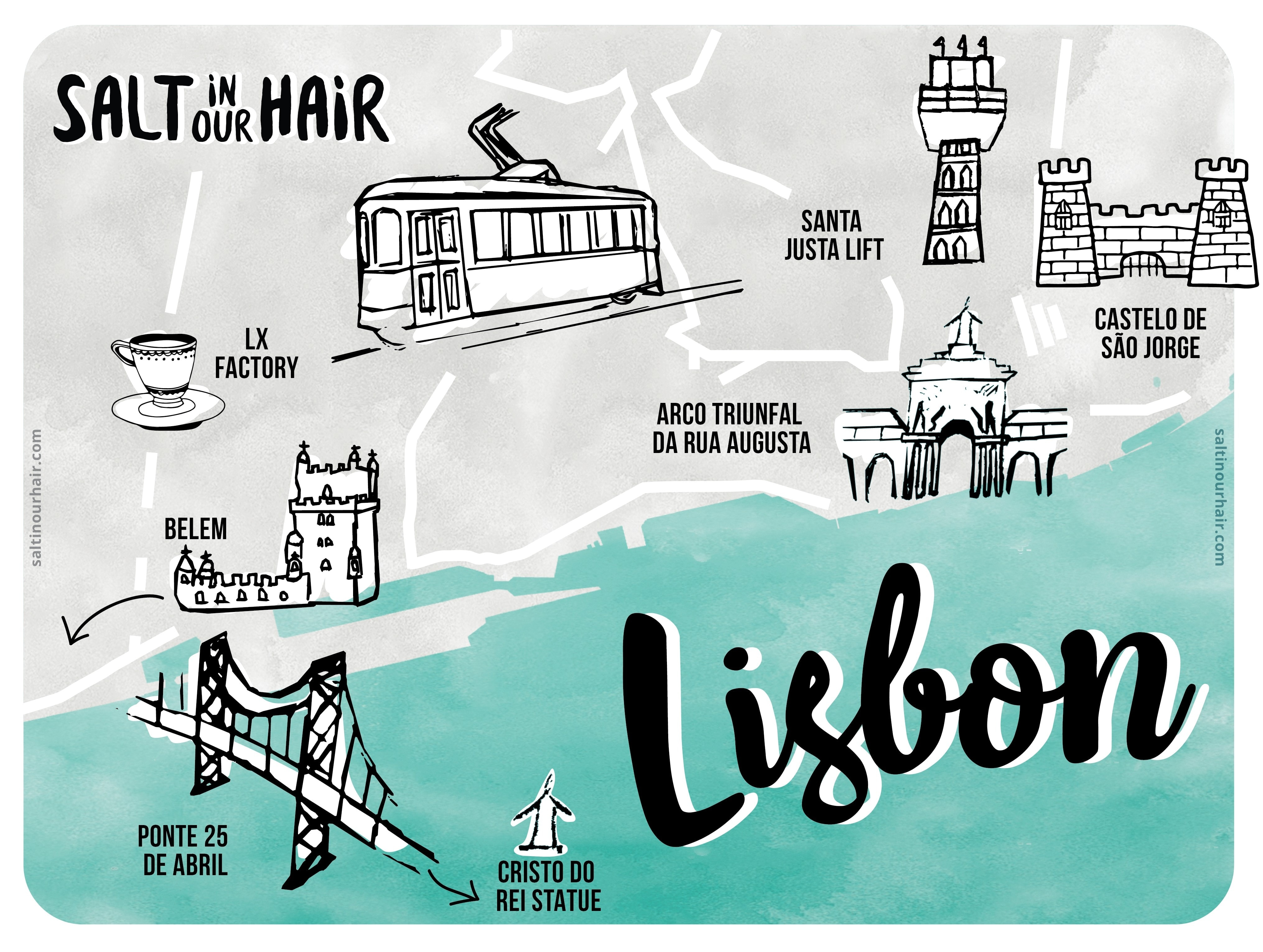 things to do lisbon map portugal