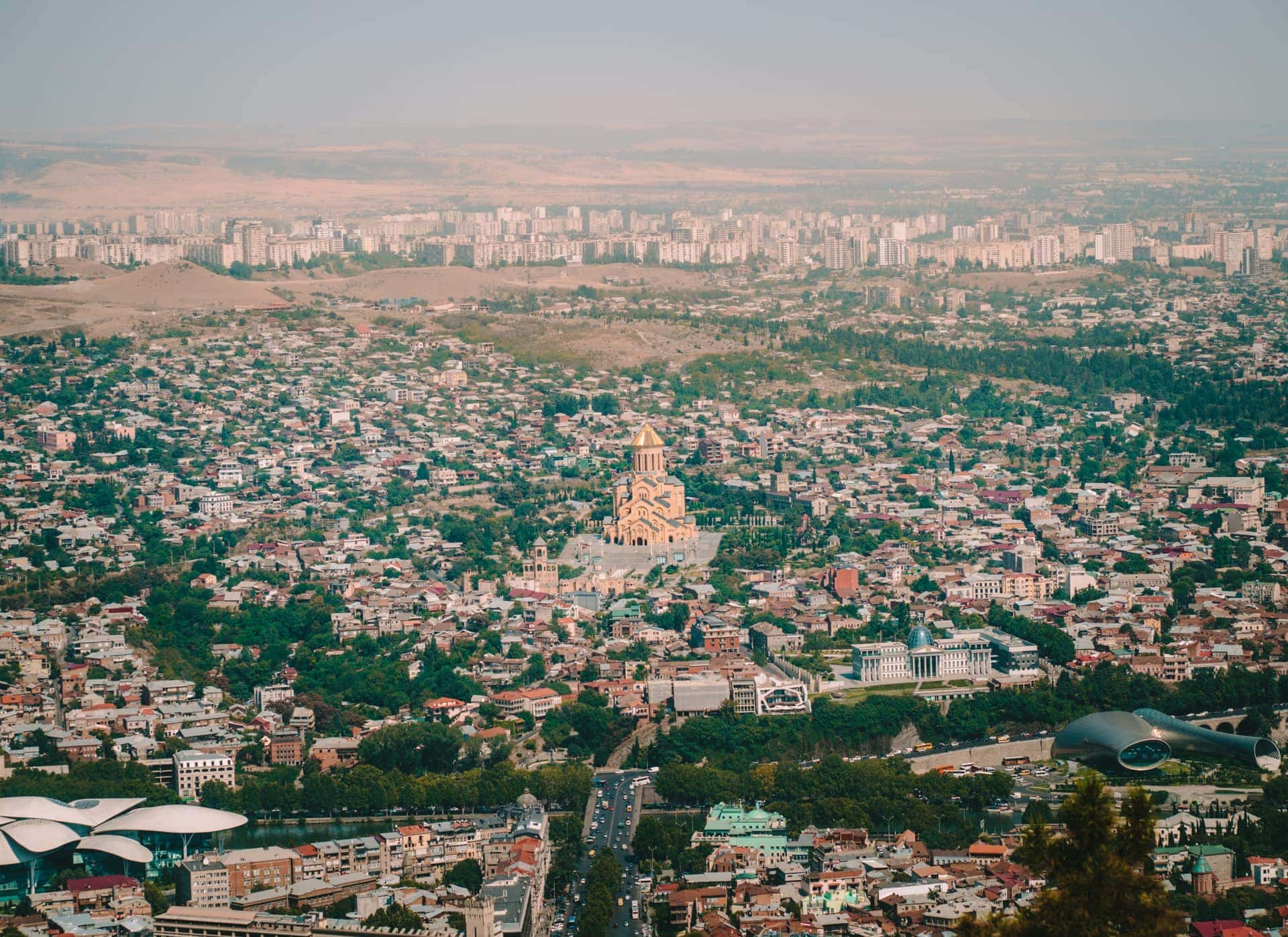 Tbilisi best viewpoint Mtatsminda