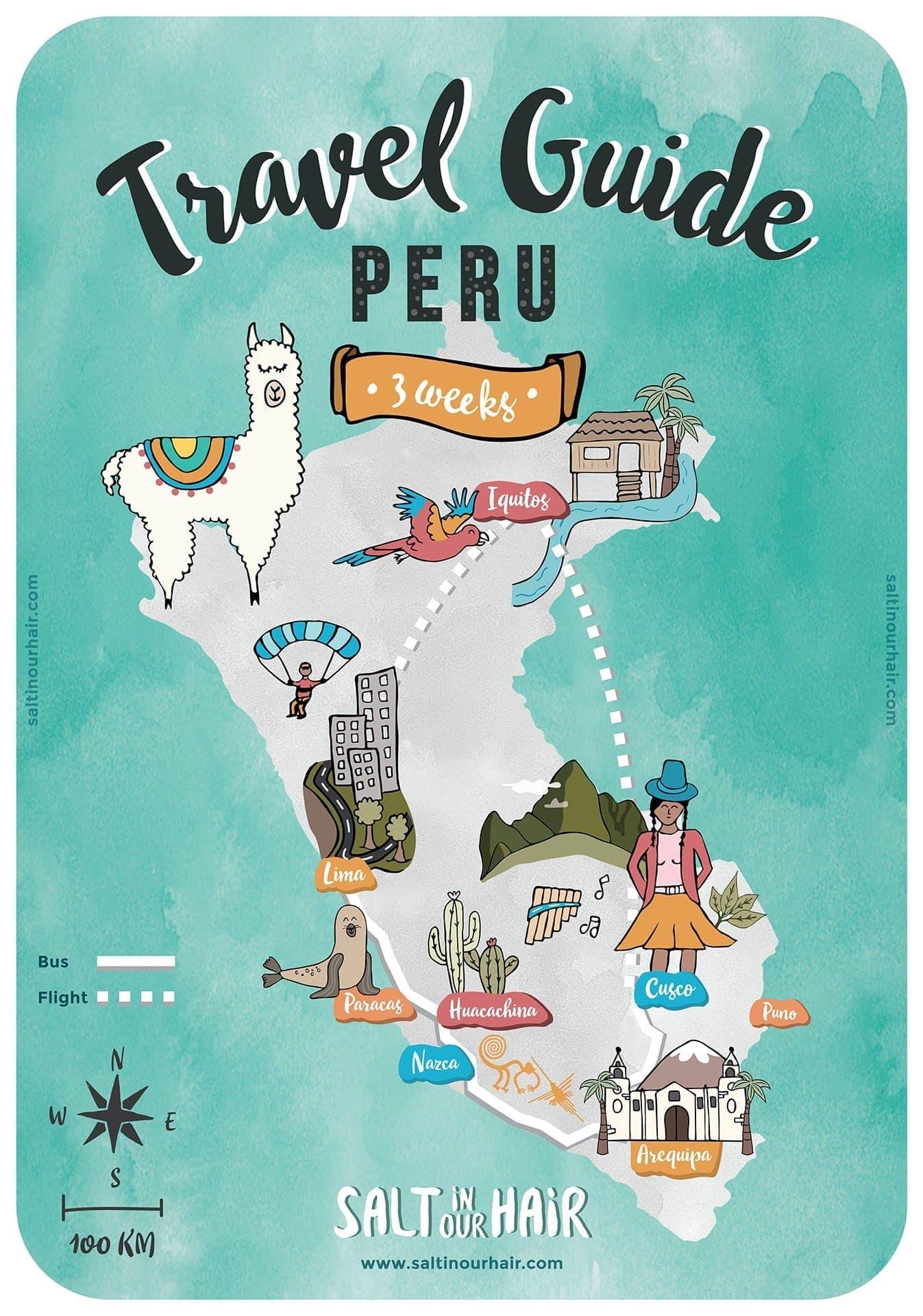 Peru map travel
