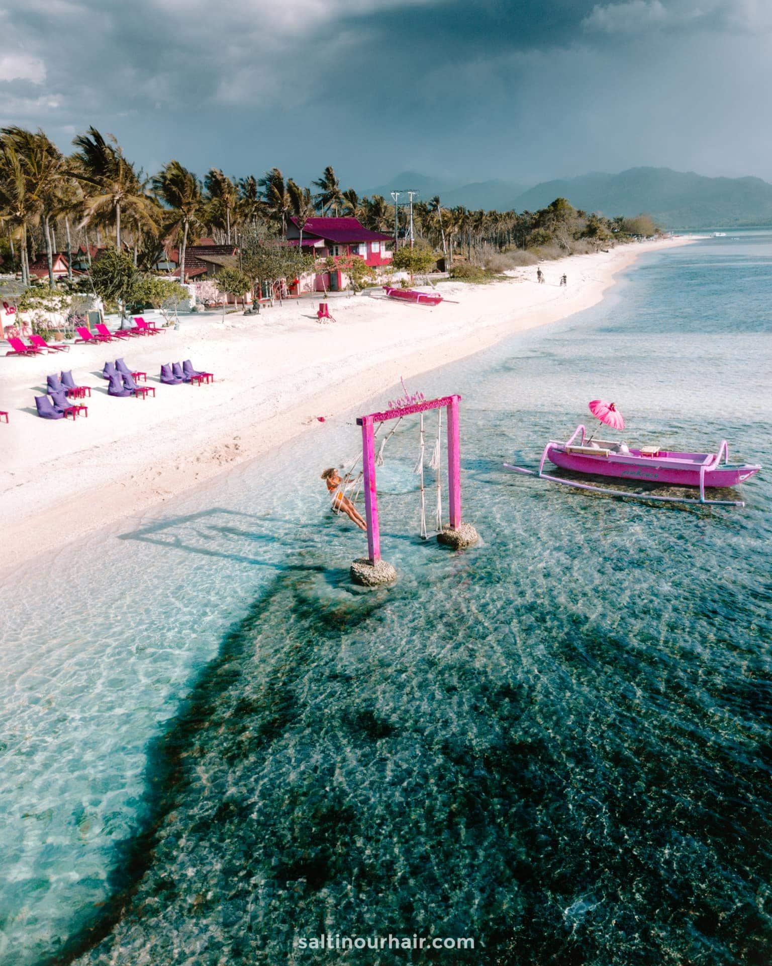 must do indonesia beach swing gili air