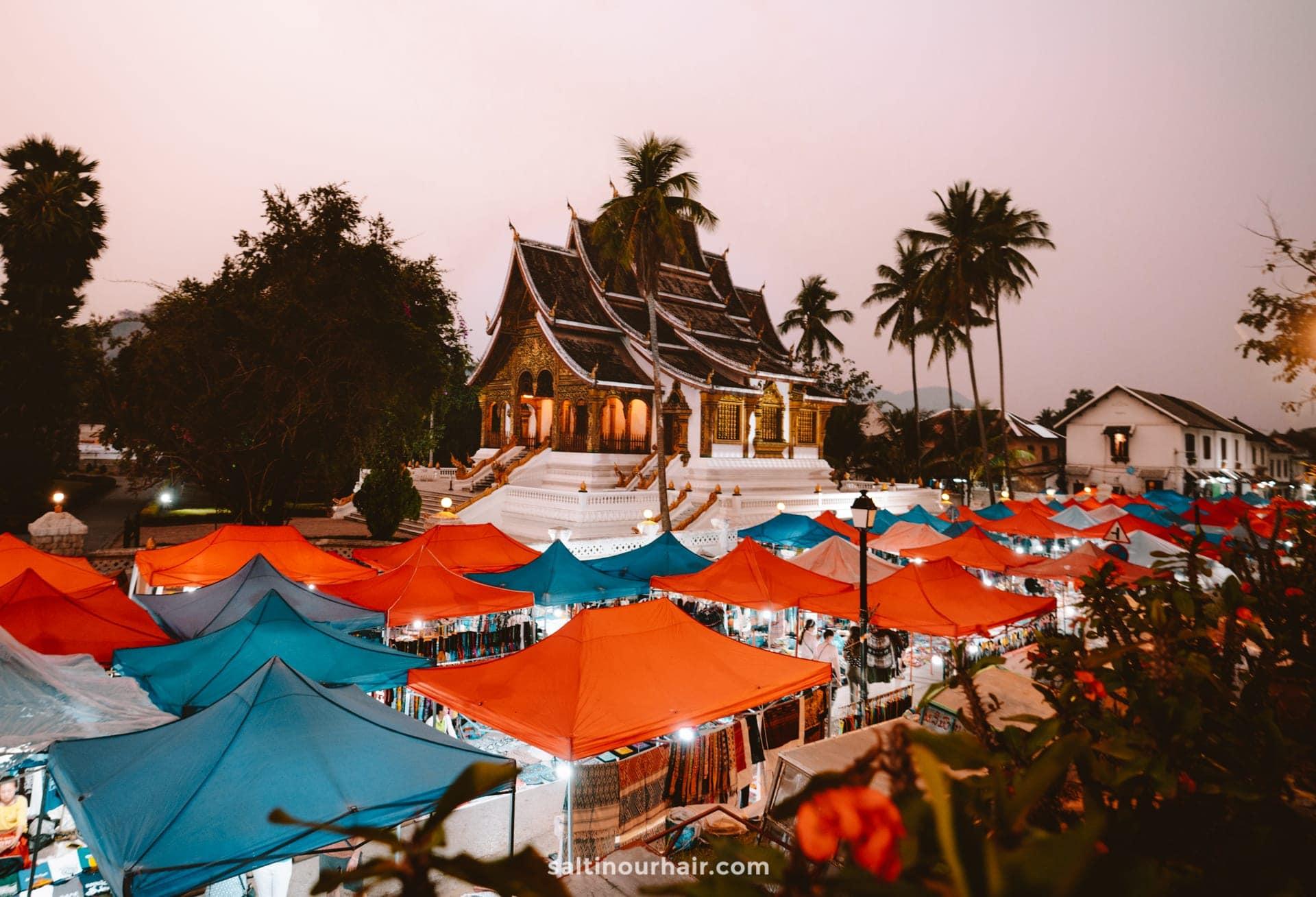 things to do luang prabang night market