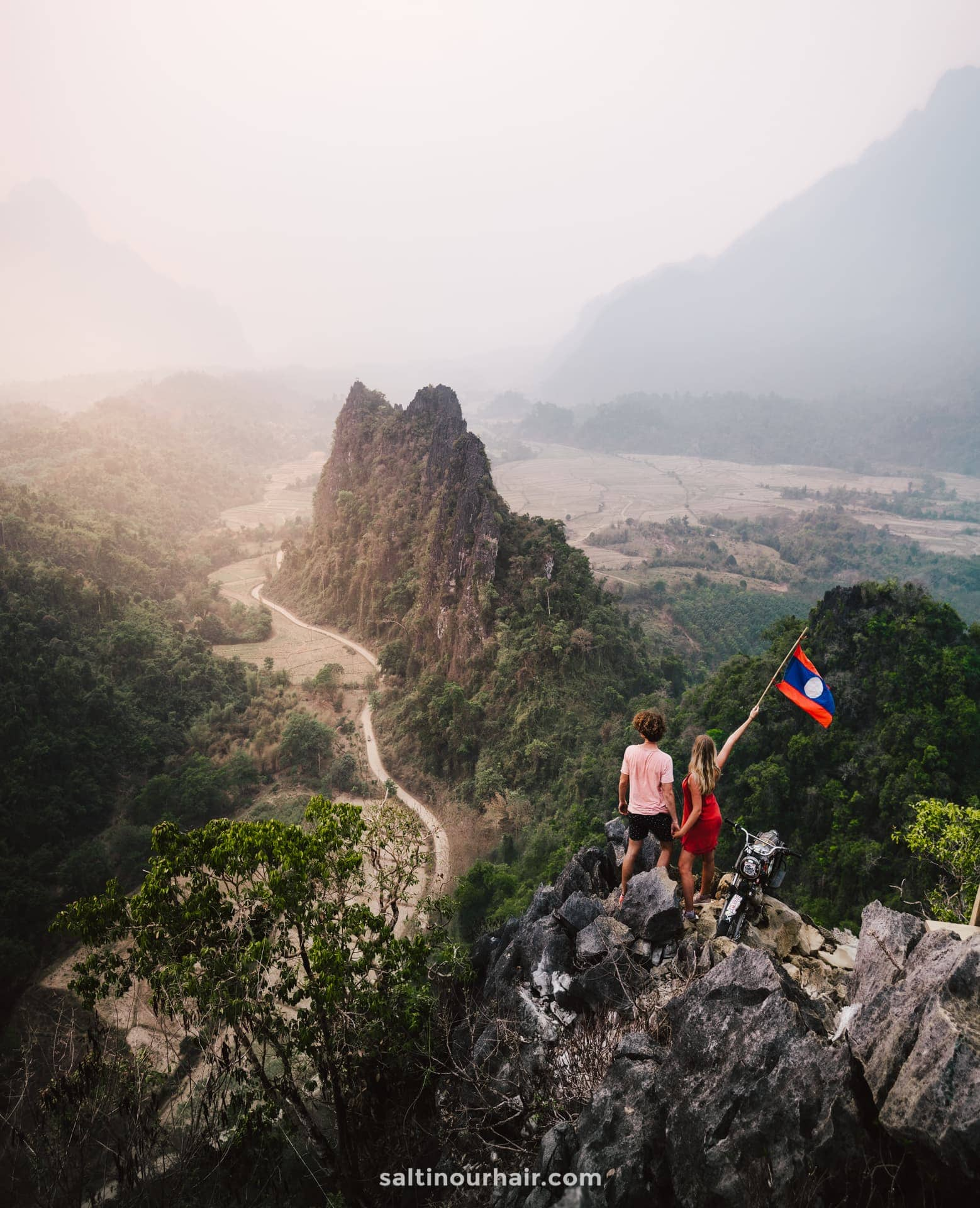 best things to do vang vieng Nam Xay viewpoint