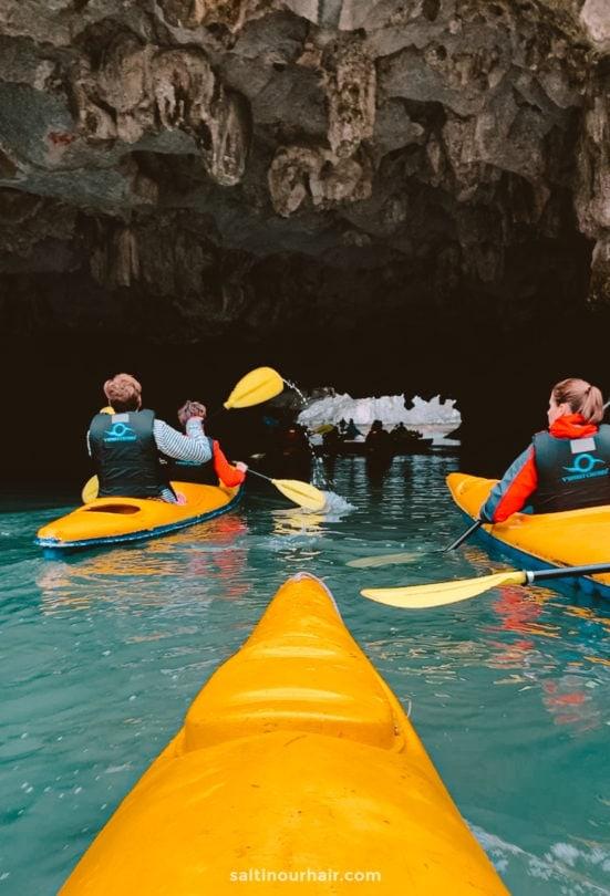 Kayaking cave vietnam