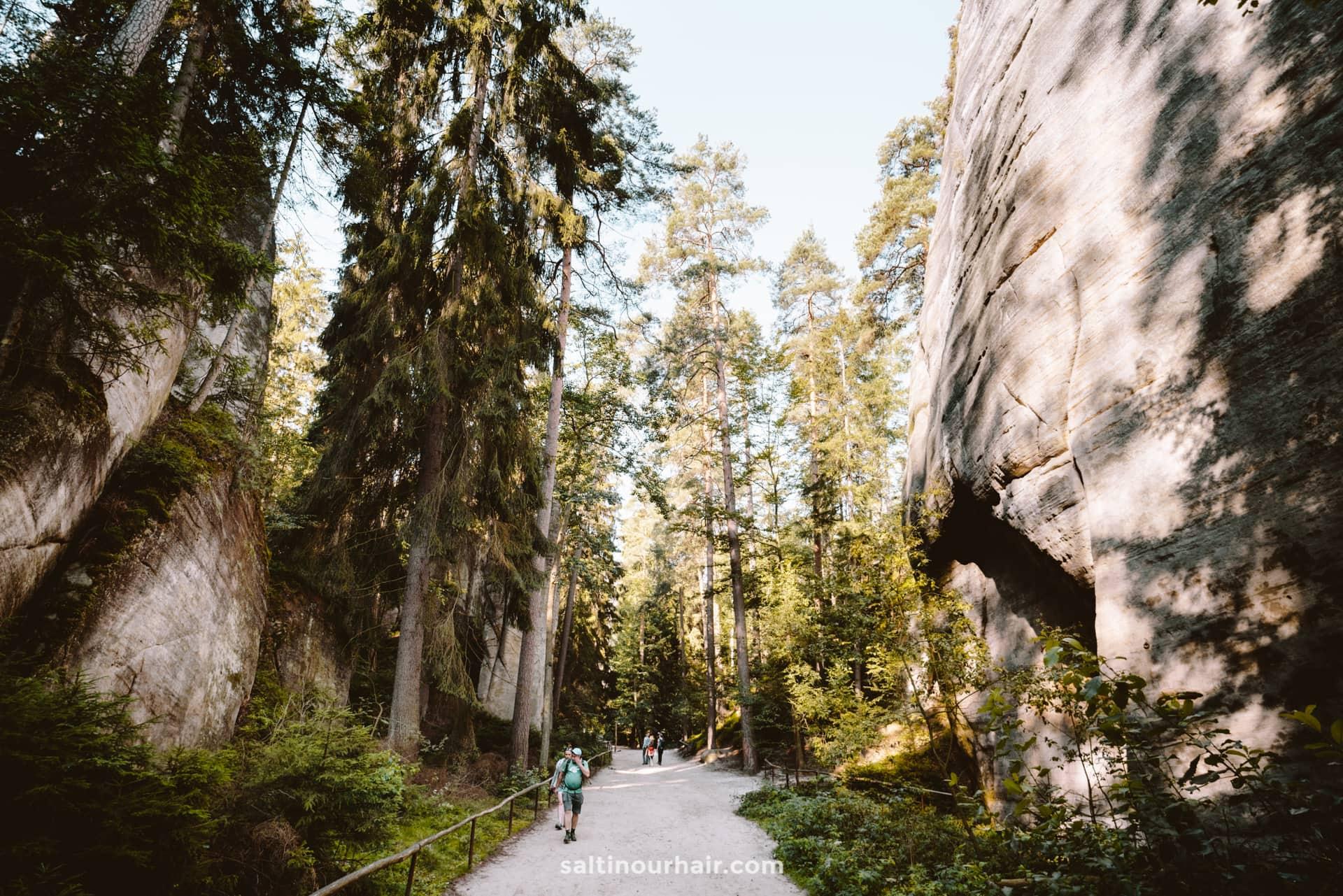 trail Adrspach Teplice Rocks czech republic