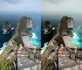 Lightroom Presets Salt in our Hair before after